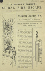 Advert for Thuiller's spiral fire escape